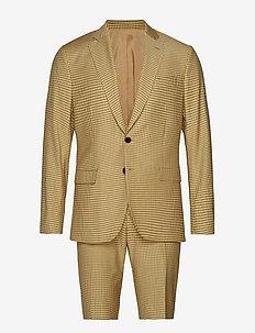 Hopper Soft/S Micro Check - enkeltradede jakkesæt - desert dunes