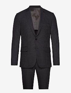Hopper Soft/G-Combat - single breasted suits - dk grey melange