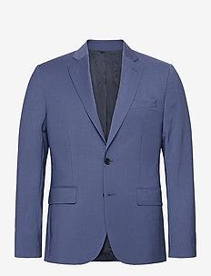 Hopper Soft-Comfort Wool - enkeltkneppede blazere - yale blue