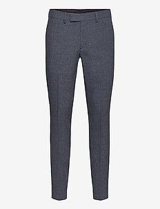 Grant-Tech Linen - suit trousers - mid blue