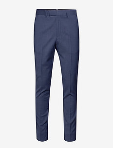 Grant HW-Voyager Wool - suit trousers - mid blue