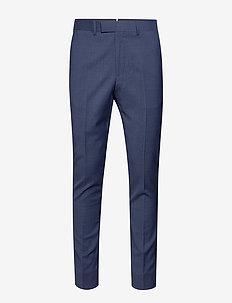 Grant HW-Voyager Wool - pantalons habillés - mid blue