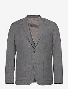 Hopper PP UNC-Hopsack Wool - enkeltkneppede blazere - stone grey