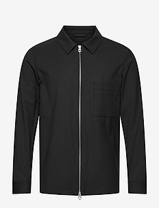 Jason Stretch Twill Overshirt - oberteile - black
