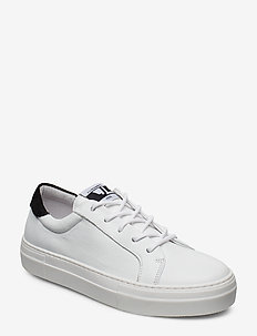 Low Lace Sneaker-Sauvage Nappa - WHITE