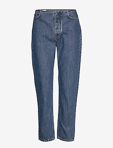 Inez-Stone - mom jeans - mid blue