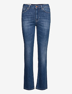 Rode-Washed out - straight jeans - light blue