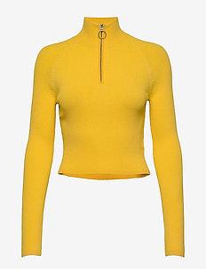 Cara-Drapy Rib - turtlenecks - sun yellow