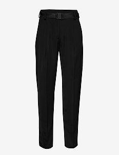 Kerry-Liquid Satin - straight leg trousers - black