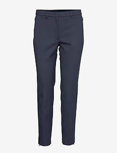Kathy-Tech Com - straight leg trousers - jl navy
