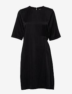Adele-Washed Silk - BLACK