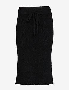 Aliyah-Fuzzy Mohair - midi skirts - black