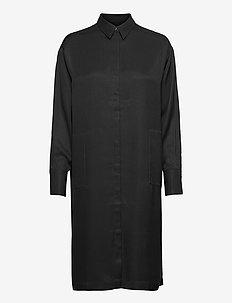 Georgia Midi Shirt Dress - hverdagskjoler - black