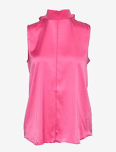Oceana-Washed Silk - Ærmeløse bluser - pop pink