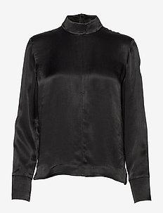 Heidi-Pliss' - long sleeved blouses - black
