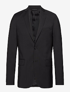 Hopper Soft Comfort Wool - single breasted suits - black
