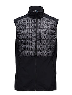 M Hybrid Vest Lux Softshell - BLACK BUILDNING BRIDGES EMB. P