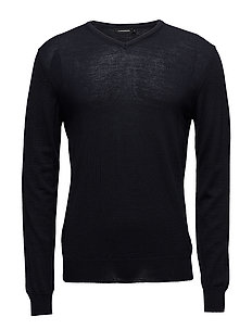 Newman V-neck Perfect Merino - JL NAVY
