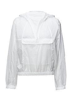 W Celia Jkt Transparent Nylon - WHITE