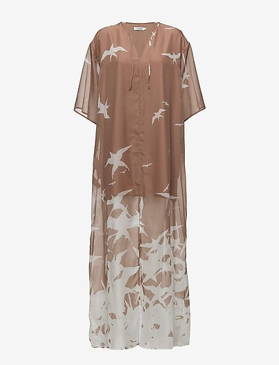 Layla Placement Print - alledaagse jurken - nude