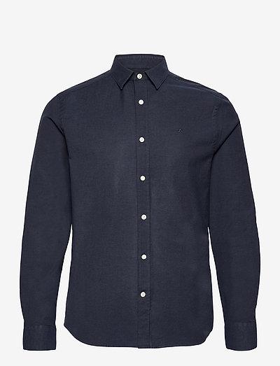 Stretch Oxford Slim Shirt - basic shirts - jl navy