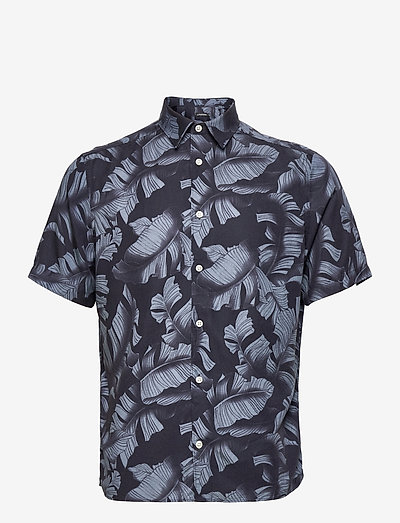 Seasonal Print SS Reg Shirt - linneskjortor - jl navy
