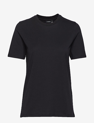 Monique printed-Supima Jersey - t-shirts - black