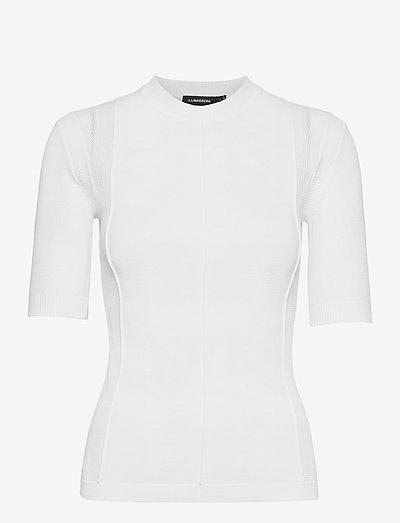 Heather-Mixed knit - gebreide t-shirts - white