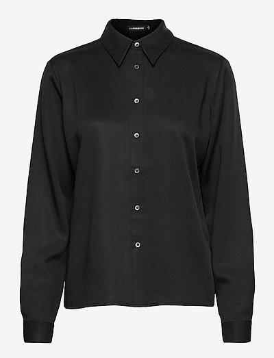 Mallory Tencel Shirt - jeansblouses - black