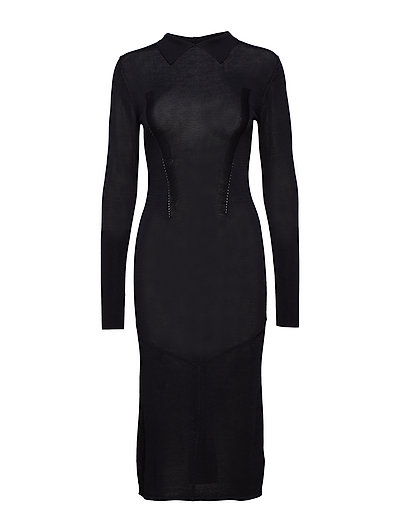 Mathilda Drapy Rib - BLACK