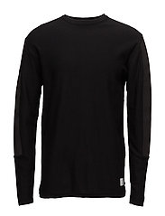 JCOPAGE KNIT CREW NECK - BLACK