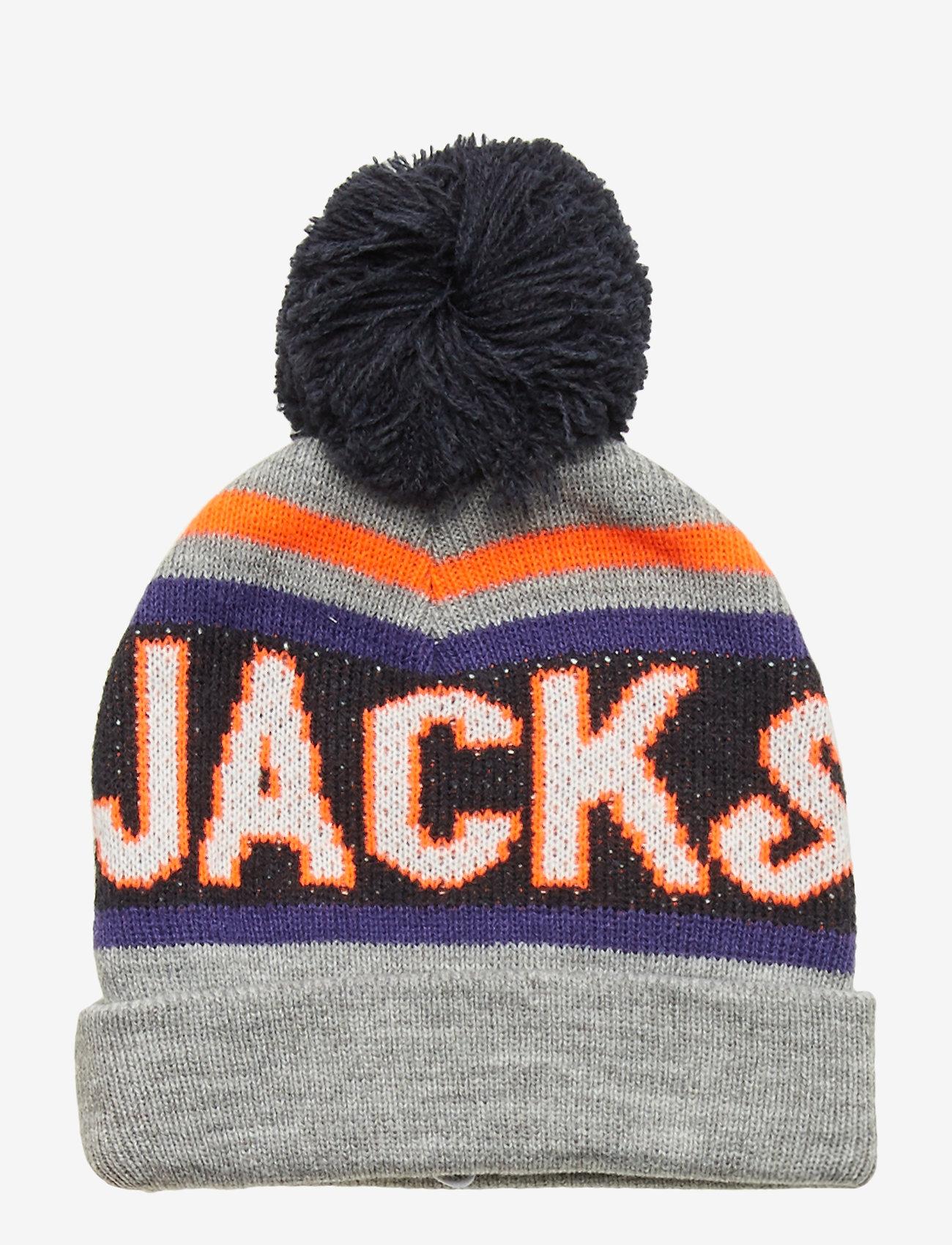 Jack & Jones - JACMAC TASSLE BEANIE JR - hatut - light grey melange - 0
