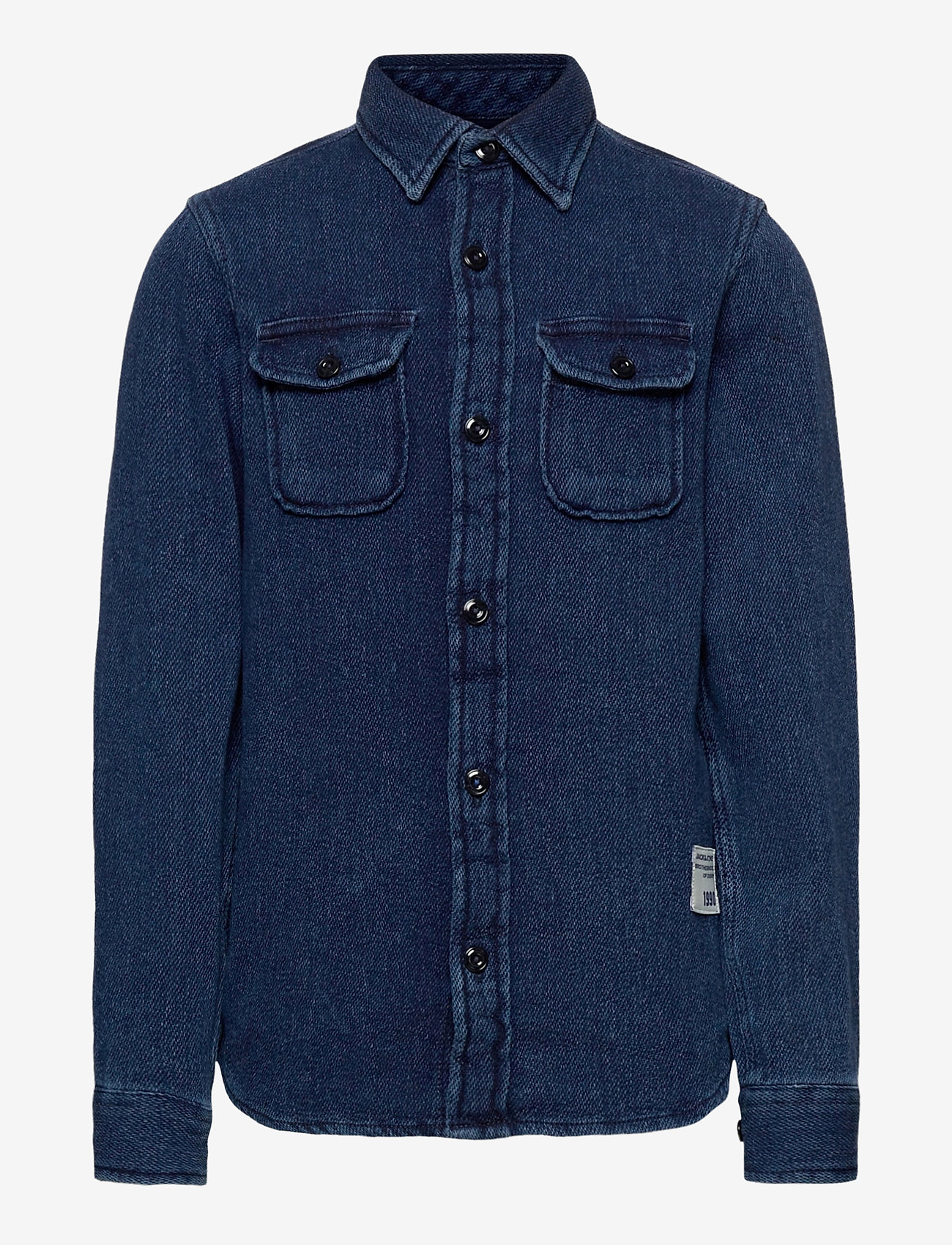 Jack & Jones - JJ30CPO SHIRT L/S JR - overhemden - dark blue denim - 0