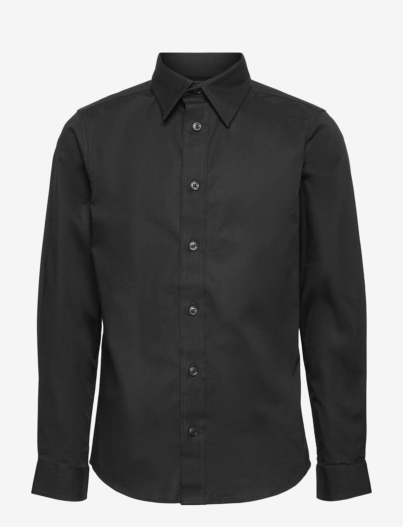 Jack & Jones - JJEMASON STRETCH SHIRT L/S ES21 JR - shirts - black - 0