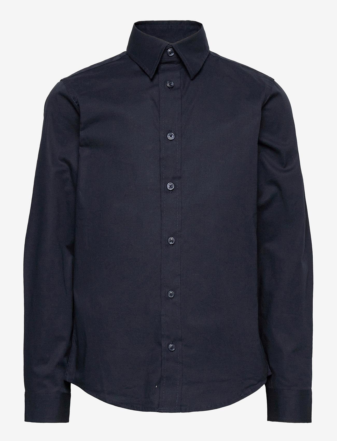 Jack & Jones - JJEMASON STRETCH SHIRT L/S ES21 JR - shirts - navy blazer - 0