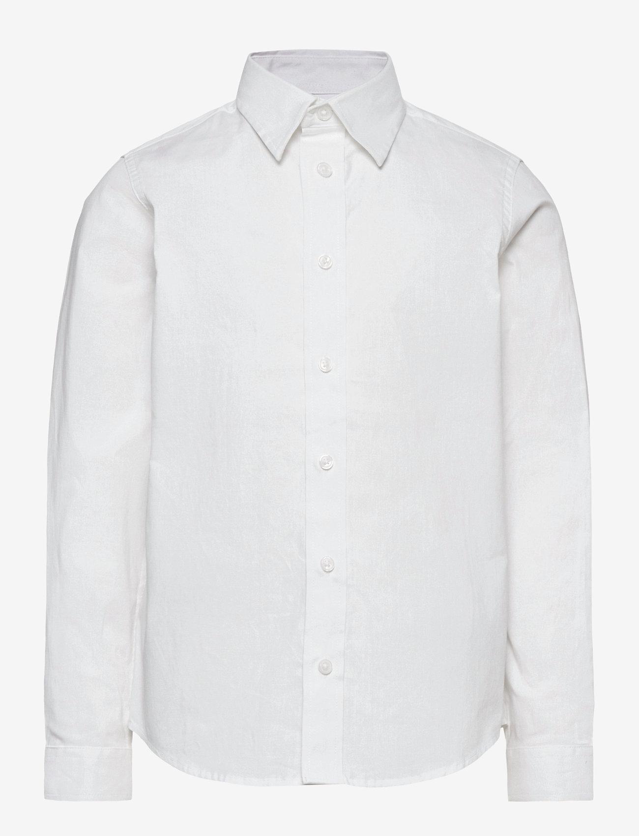Jack & Jones - JJEMASON STRETCH SHIRT L/S ES21 JR - shirts - white - 0