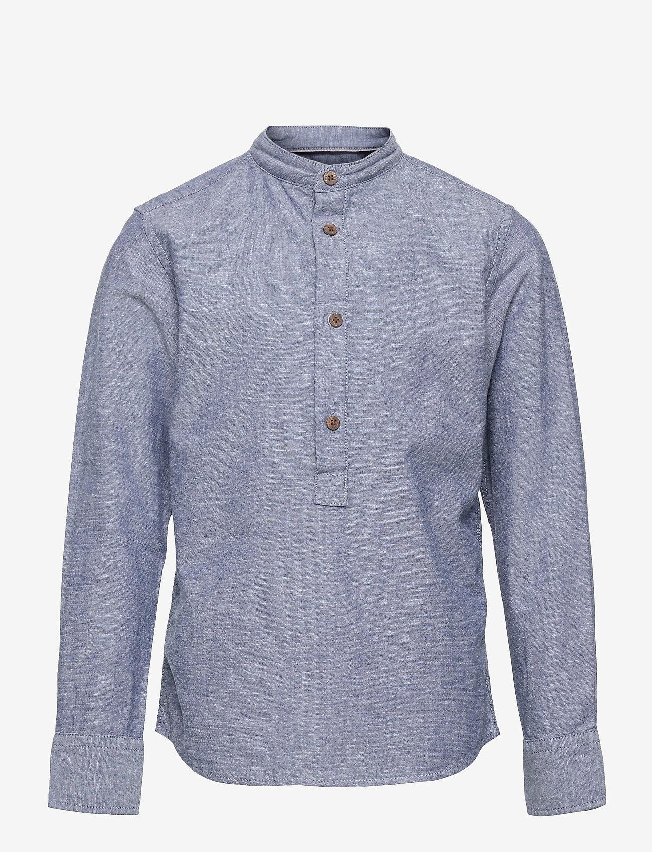 Jack & Jones - JPRBLASUMMER BAND TUNIC SHIRT L/S JR - shirts - faded denim - 0