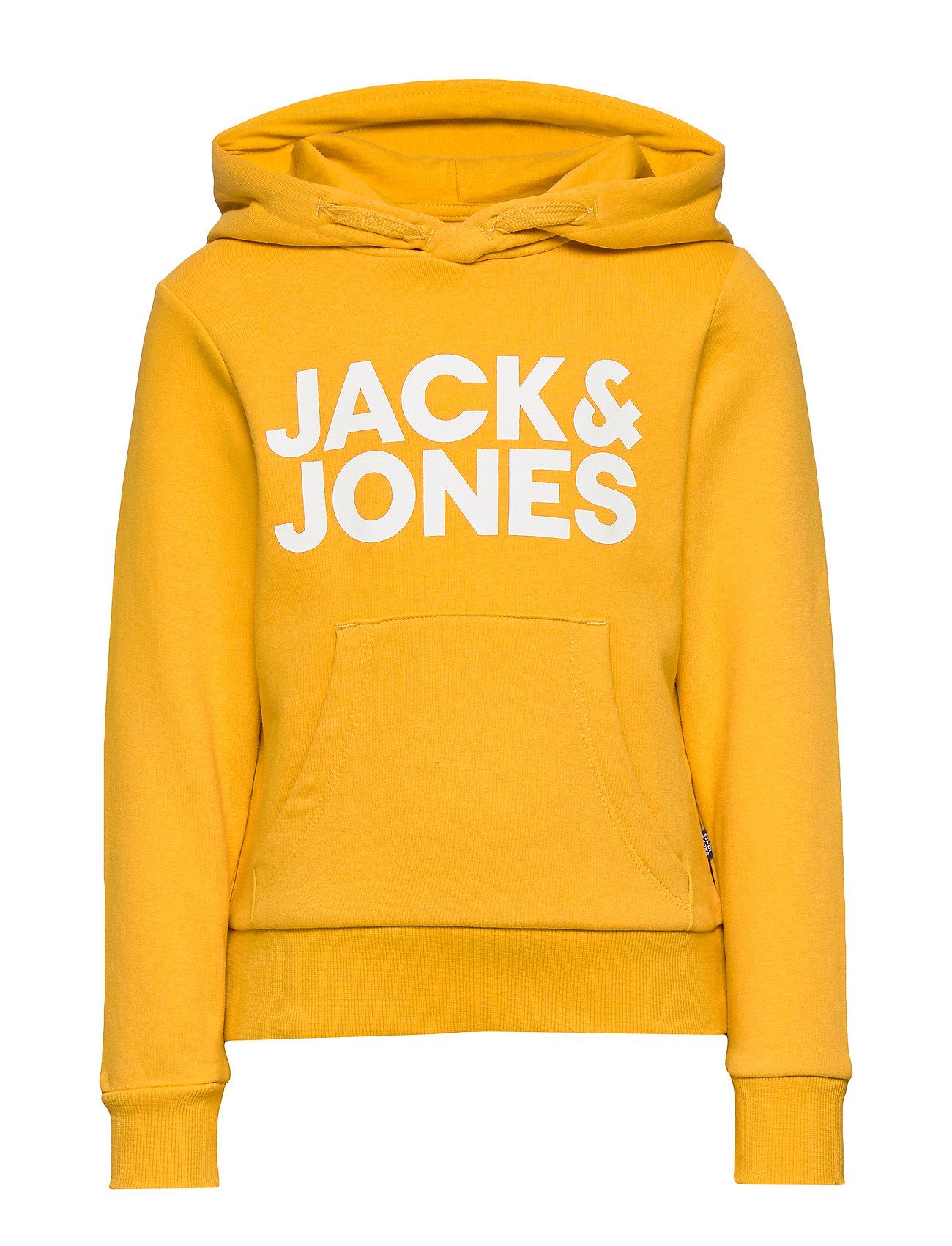 Jack & Jones JJECORP LOGO SWEAT HOOD  NOOS JR - YOLK YELLOW