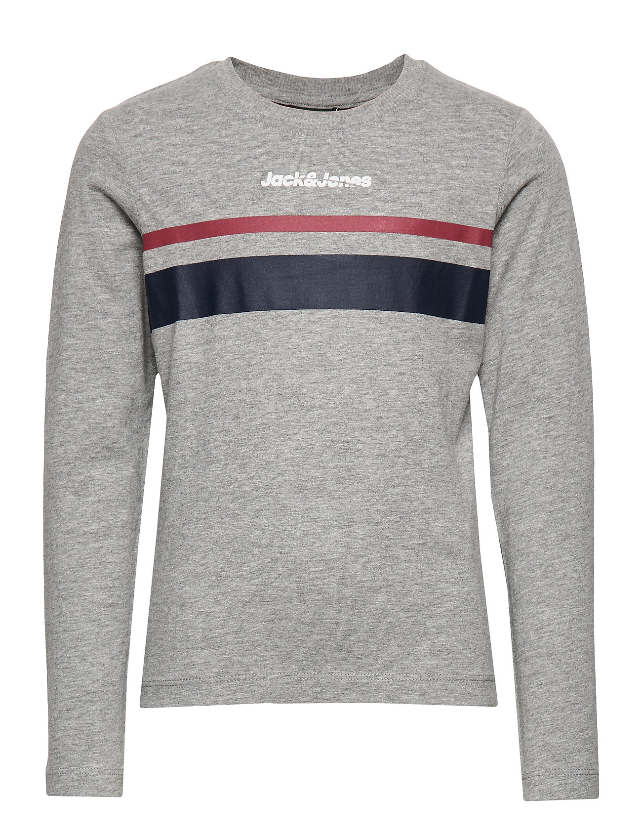 Jack & Jones JORCAINE TEE LS CREW NECK JR - LIGHT GREY MELANGE