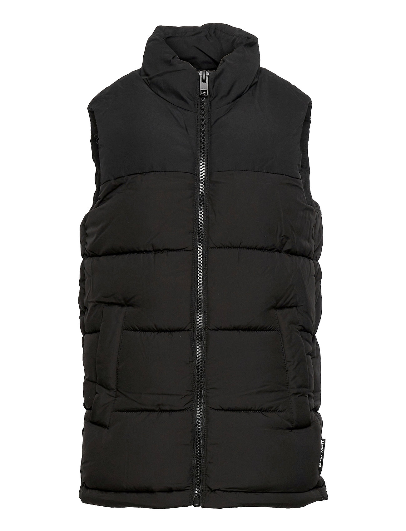 Jjpaul Bodywarmer Collar Jr Foret Vest Sort Jack & J S