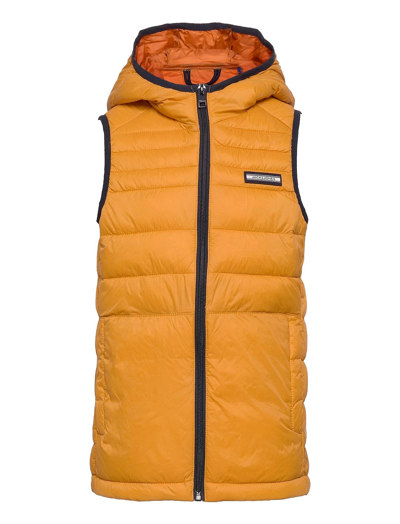 Jjeace Bodywarmer Hood Sn Jr Foret Vest Orange Jack & J S