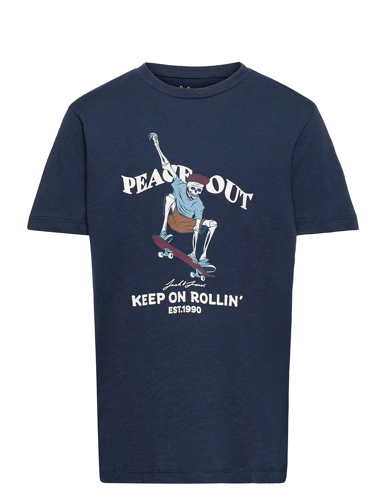 Jorskull Tee Ss Crew Neck Sn Jr T-shirt Blå Jack & J S