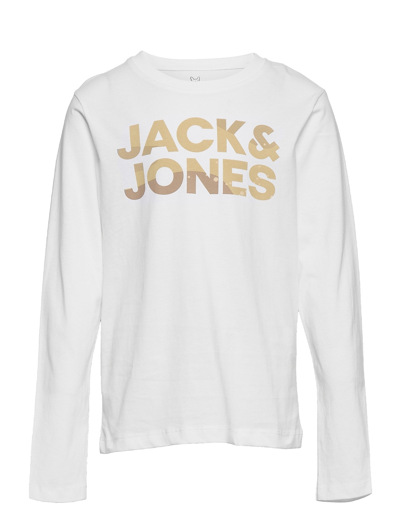 Jcodolan Tee Ls Crew Neck Jr Langærmet T-shirt Hvid Jack & J S