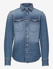 Jack & Jones - JJESHERIDAN SHIRT L/S JR - shirts - medium blue denim - 0
