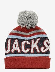 Jack & Jones - JACMAC TASSLE BEANIE JR - hatut - brick red - 1