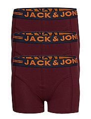 JACLICHFIELD TRUNKS 3 PACK JUNIOR - BURGUNDY