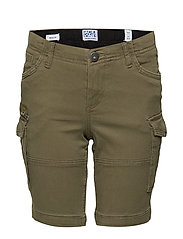 JJICHOP JJCARGO SHORTS AKM 429 SOLID JR - OLIVE NIGHT