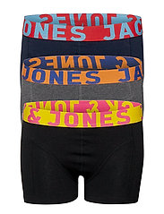 JACCRAZY SOLID TRUNKS 3 PACK JUNIOR - BLACK