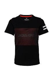 JCOMESH TEE SS CREW NECK JUNIOR - BLACK