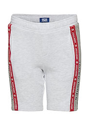 JJIMAXIT SWEAT SHORTS VIY JR - WHITE MELANGE